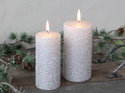 Candle with glitter