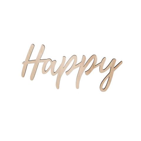 Happy-teksti magneeteilla