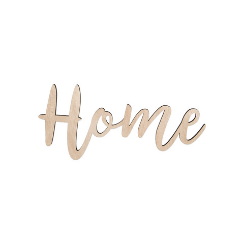 Home sign with magnets