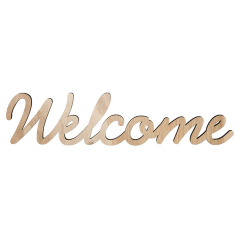 Welcome sign with magnets