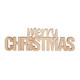Merry Christmas wood sign with magnet