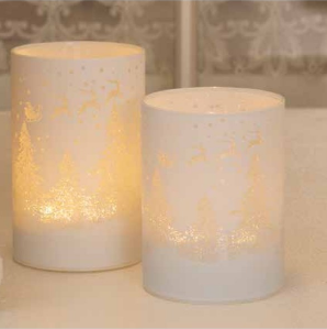 Hurricane candleholder with timer small