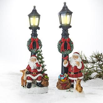 Joulupukki ja katuvalo 2 mallia