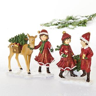 Children, poly, deer – 12CM, 2 ASS