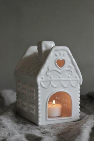 Candleholder House small ceramic