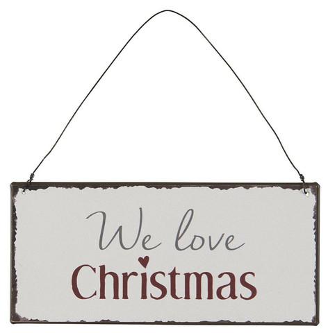 Metal sign we love christmas