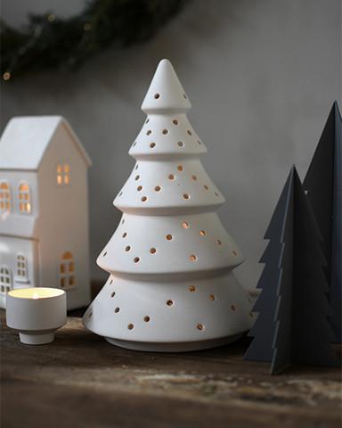 Ceramic tree to tealight