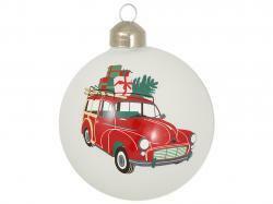 Christmas ball Charline white car