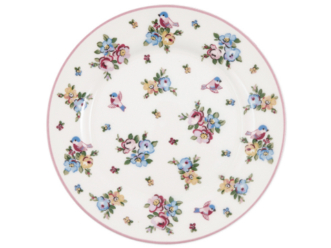 Plate Ellie white