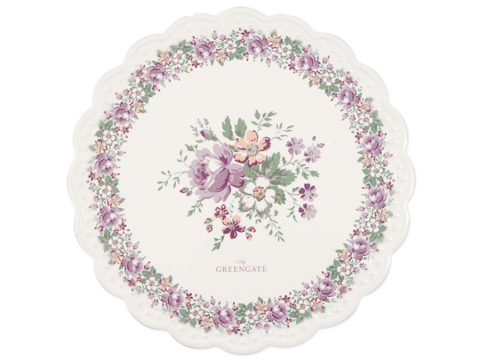 Ceramic coaster Marie peach