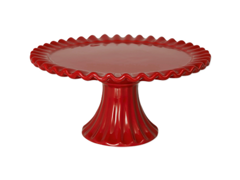 Ceramic cakestand Charlinen red 2 size