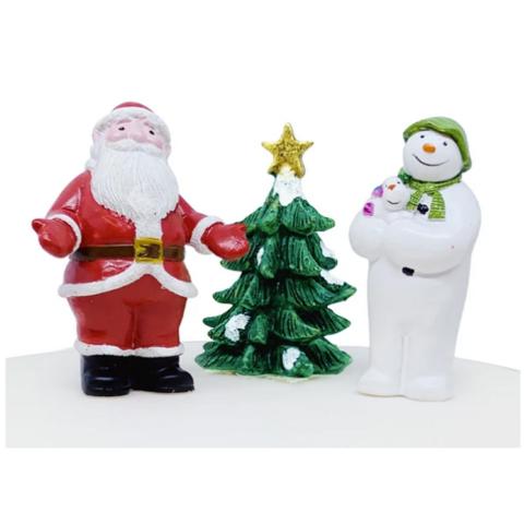 Snowman and santaclaus set