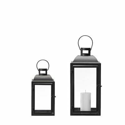 Lantern mattblack 2 sizes