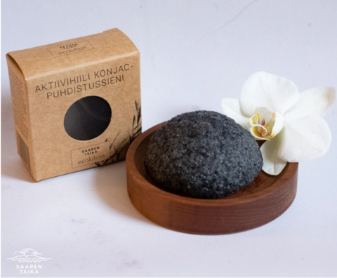Konjac activated carbon cleaning sponge