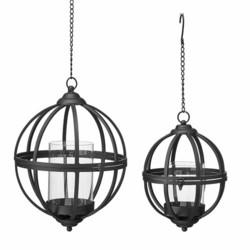 Lantern antique svart metal