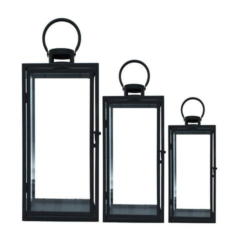 Black metal lantern 3 sizes