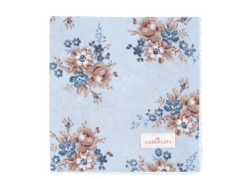 CottonNapkin with lace Marie dusty blue