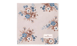 Cottonnapkin with lace Marie beige