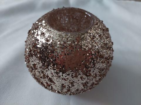 Candleholder silverglass
