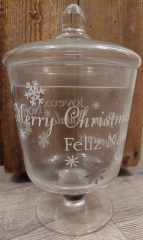 Glass Merry Christmas