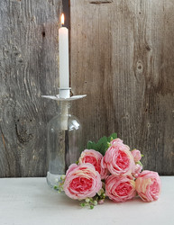 Candle holder Antique white