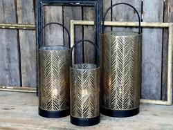 Led lantern with brass timer