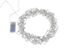 Wreath silver with timer