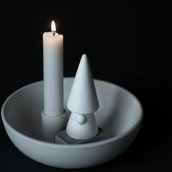 Ceramic elf in black or white