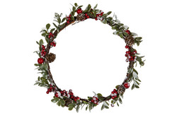 Wreath with red berries 25cm