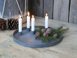 Advent Tray w. magnet candleholder