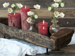 Dark red candle