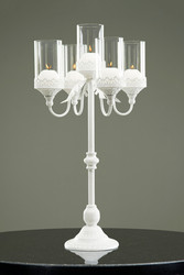 Metal candleholder white