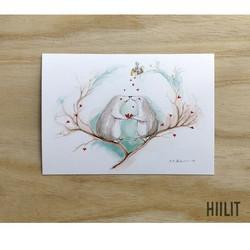 Sydämet postikortti