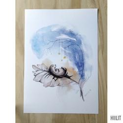 Pieni ihme sininen A4-juliste