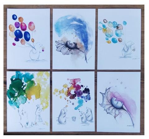 Kuusi erilaista postikorttia II