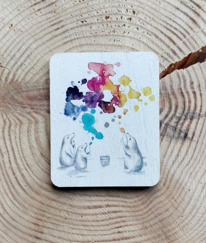 Saippuakuplat magneetti