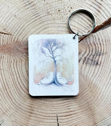 Puun juurella avaimenperä