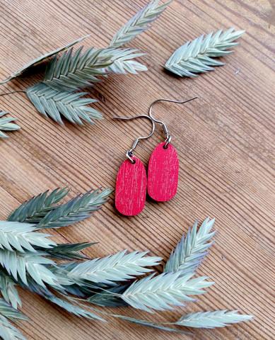 Pikkuiset-korvakorut, punainen
