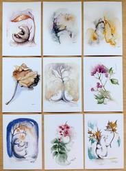 Korttipakkaus 1, 9 erilaista postikorttia
