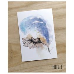 Pieni ihme sininen postikortti