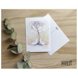 Puun juurella postikortti