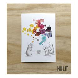 Saippuakuplat postikortti
