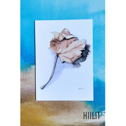 Kuiva lehti postikortti