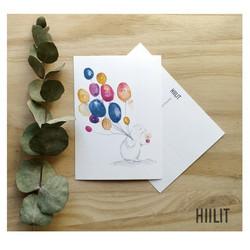 Onnea I postikortti