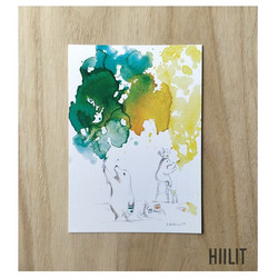 Hiilit maalaa postikortti