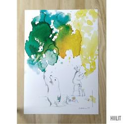 Hiilit maalaa A4-juliste