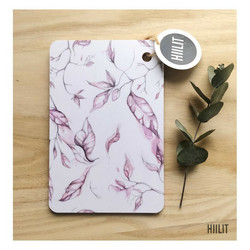 Mini Lehti- leikkuulauta / leipälautanen, vaaleanpunainen