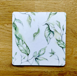 Lehti lasinalunen, vihreä