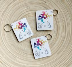 Saippuakuplat avaimenperä x 3kpl