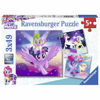RAVENSBURGER 3x49P My Little Pony palapeli  seikkailu